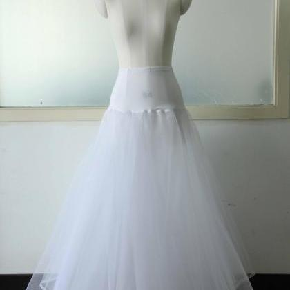 White Wedding Dress Petticoat A-line Petticoat 1 Hoop Petticoat ...