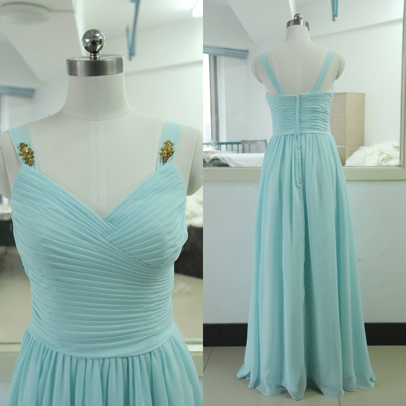 dd964e69f20a Spaghetti Straps Floor-length Chiffon Bridesmaid Dress Tiffany blue  Bridesmaid gown Custom Gold Sequins Chiffon Bridesmaid dress Satin  Bridesmaid dresses ...
